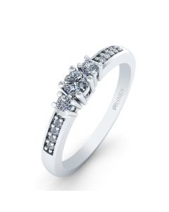 Smykkekæden 14 Karat Hvidguld Ring med Brillanter 0,80 Carat W/SI