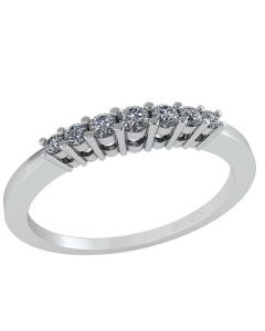 14 Karat Hvidguld Ring fra Smykkekæden med Diamanter 0,14 Carat W/SI