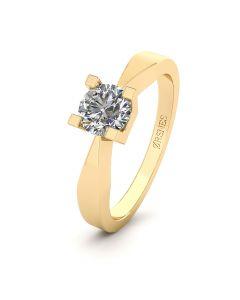 Smykkekæden 14 Karat Guld Ring med Brillant 0,40 Carat W/SI