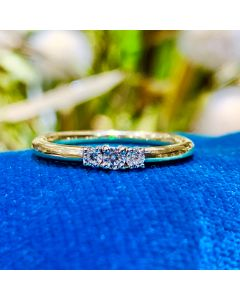 8 Karat Guld Ring fra Smykkekæden med Hvidguld