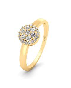 Smykkekæden 14 Karat Guld Ring med Brillanter 0,125 Carat W/SI