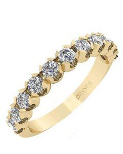 Smykkekæden 14 Karat Guld Ring med Brillanter 0,66 Carat W/SI