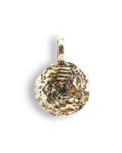 By Birdie Mani Coin Sterling Sølv Vedhæng med 14 Karat Guld
