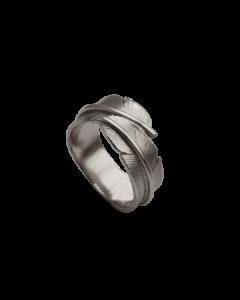 Lille Fjer Oxideret Sølv Ring fra Heiring 51-5-95OX