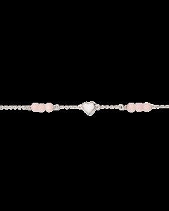 Sterling Sølv Armbånd fra Scrouples med Pink Cateye