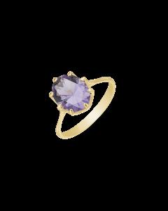 8 Karat Guld Ring fra Støvring Design med Ametyst