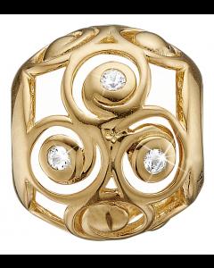 Christina Watches Triple Spiral Forgyldt Sølv Charm