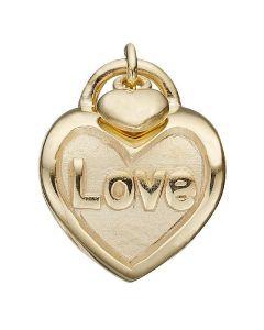Love Lock Forgyldt Sølv Charm fra Christina Watches