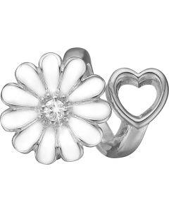 Christina Watches Marguerit Sterling Sølv Charm med Labgrown Diamant