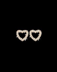 Sparkling Hearts Forgyldt Sølv Ørestikker fra Christina Watches