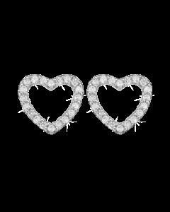 Sparkling Hearts Sterling Sølv Ørestikker fra Christina Watches med Topaz