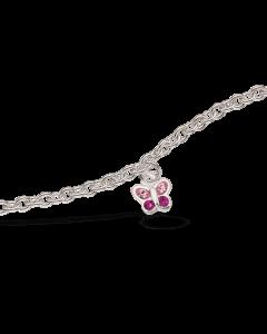 Scrouples Pink Sommerfugl Sterling Sølv Børnearmbånd