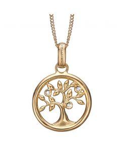 Christina Watches Tree Of Life Forgyldt Sølv Vedhæng med Topaser