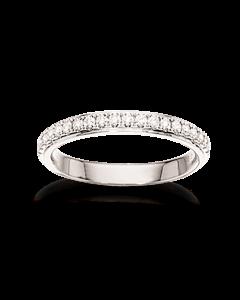 Dazzling 14 Karat Hvidguld Ring fra Scrouples med Brillanter 0,27 Carat W/SI