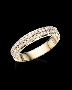 Dazzling 14 Karat Guld Ring fra Scrouples med Diamanter 0,34 Carat W/SI