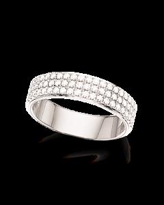 Dazzling 14 Karat Hvidguld Ring fra Scrouples med Brillanter 0,49 Carat W/SI