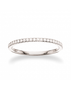 Dazzling 14 Karat Hvidguld Ring fra Scrouples med Diamanter 0,16 Carat W/SI