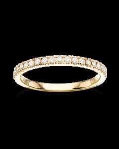 Scrouples Dazzling Ring i 14 Karat Guld med Diamanter 0,24 Carat H-W/SI