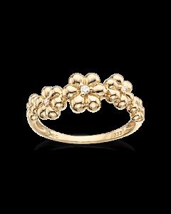 Blomster 8 Karat Guld Ring fra Scrouples 711503
