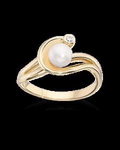 Scrouples Ring i 8 Karat Guld med Perler 711603