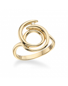 Scrouples 14 Karat Guld Ring med Brillant 0,027 Carat W/SI