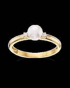 Scrouples 8 Karat Guld Ring med Ferskvandsperle 712223
