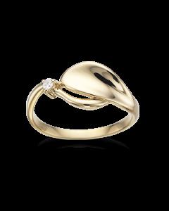 14 Karat Guld Ring fra Scrouples med Brillant 0,03 Carat W/SI