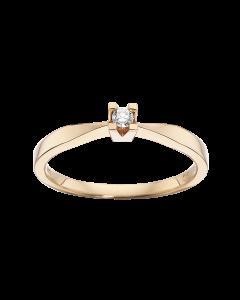 Kleopatra Ring 0,05 ct. i 14 Karat Guld fra Scrouples