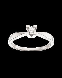 Kleopatra Ring 0,15 ct. i 14 Karat Hvidguld fra Scrouples
