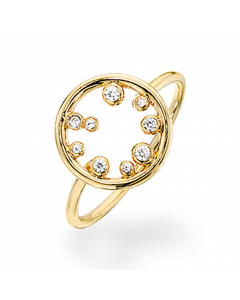 Scrouples Ring i Forgyldt Sølv 721202
