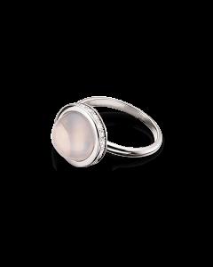 Rhodineret Sølv Ring fra Scrouples med Rosakvarts