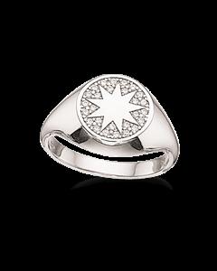 Signet Stjerne Sterling Sølv Ring fra Scrouples 725142