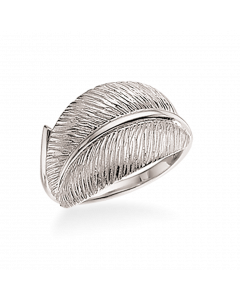 Primavera Blad Rhodineret Sølv Ring fra Scrouples
