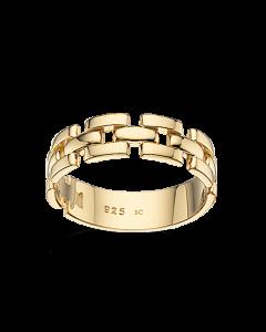 Scrouples Mursten Ring i Forgyldt Sølv 725452