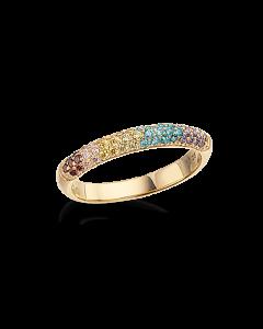 Rainbow Forgyldt Sølv Ring fra Scrouples 725592