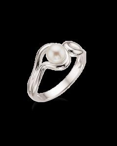 Sterling Sølv Ring fra Scrouples med Ferskvandsperle