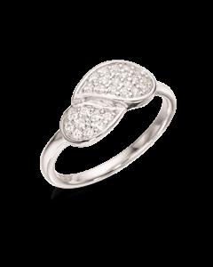 Blad Rhodineret Sølv Ring fra Scrouples 726802
