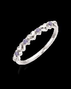 Hjerte Rhodineret Sølv Ring fra Scrouples 726832