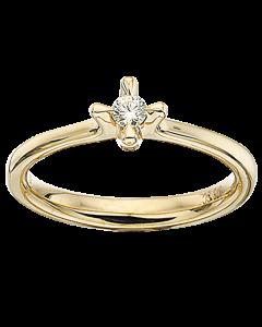 Primo Amore Ring 0,10 ct. i 9 Karat Guld fra Scrouples