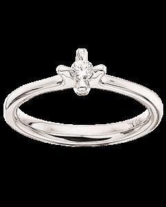 Primo Amore Ring 0,10 ct. i 9 Karat Hvidguld fra Scrouples
