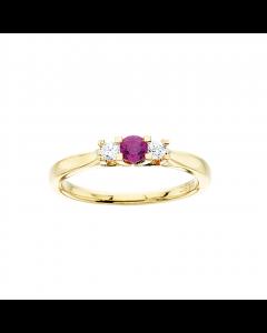 Zoya Ring 0,11 ct. i 14 Karat Guld fra Scrouples med Rubin og Brillanter