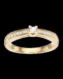 Klepatra Queen Ring 0,15 ct. i 14 Karat Guld fra Scrouples