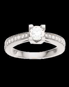Kleopatra Queen Ring 0,53 ct. i 14 Karat Hvidguld fra Scrouples
