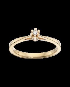 Prinsesse Ring 0,03 ct. i 14 Karat Guld fra Scrouples