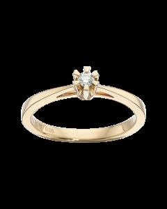 Prinsesse Ring 0,05 ct. i 14 Karat Guld fra Scrouples