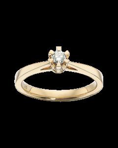 Prinsesse Ring 0,10 ct. i 14 Karat Guld fra Scrouples