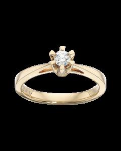 Prinsesse Ring 0,15 ct. i 14 Karat Guld fra Scrouples