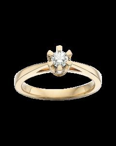 Prinsesse Ring 0,20 ct. i 14 Karat Guld fra Scrouples