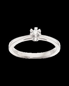 Prinsesse Ring 0,05 ct. i 14 Karat Hvidguld fra Scrouples