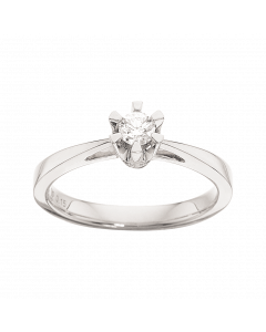 Prinsesse Ring 0,15 ct. i 14 Karat Hvidguld fra Scrouples